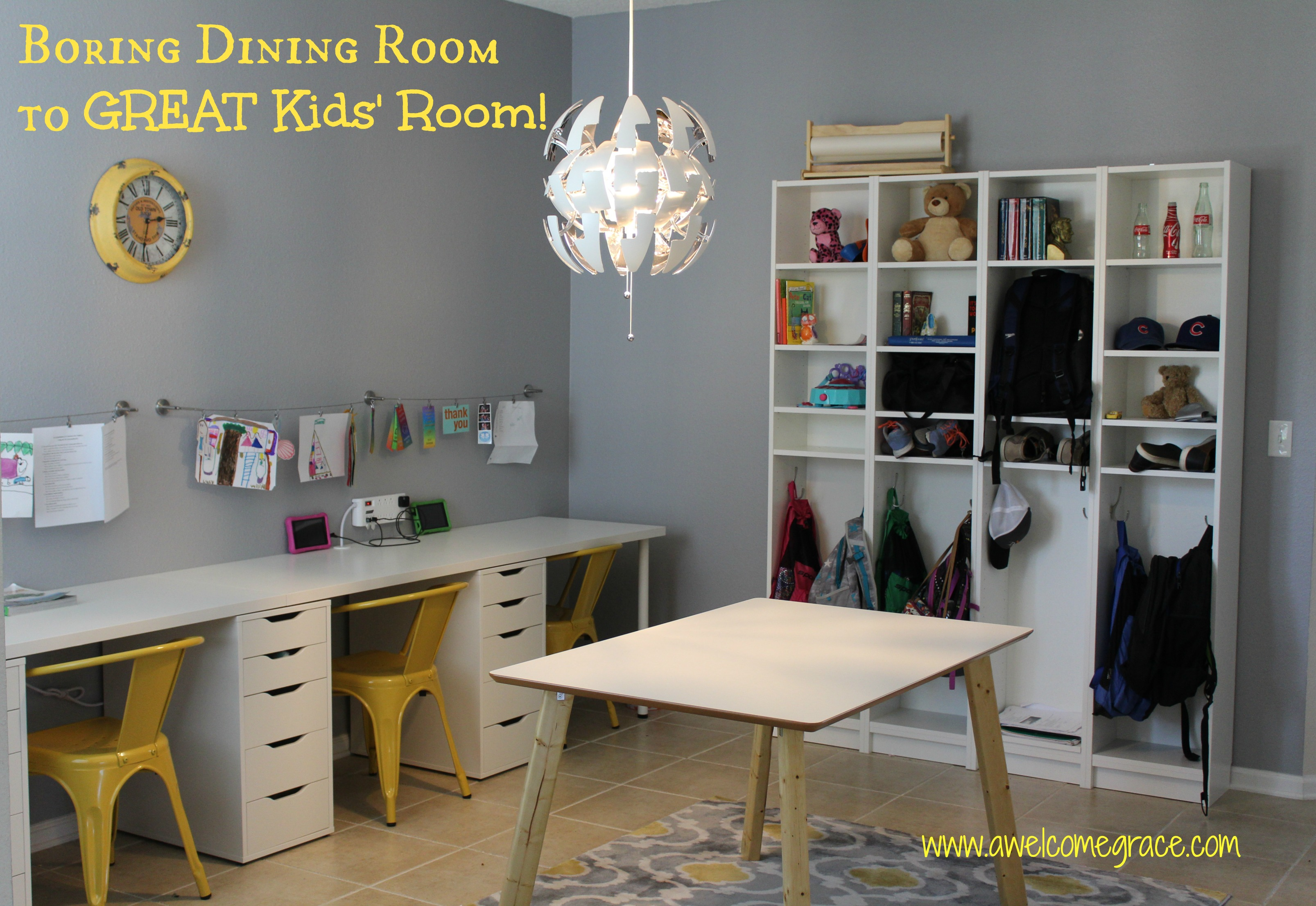 Boring Dining Room to GREAT Kids' Room!