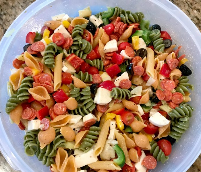 Easy Peasy Pasta Salad – Supper in One Bowl!