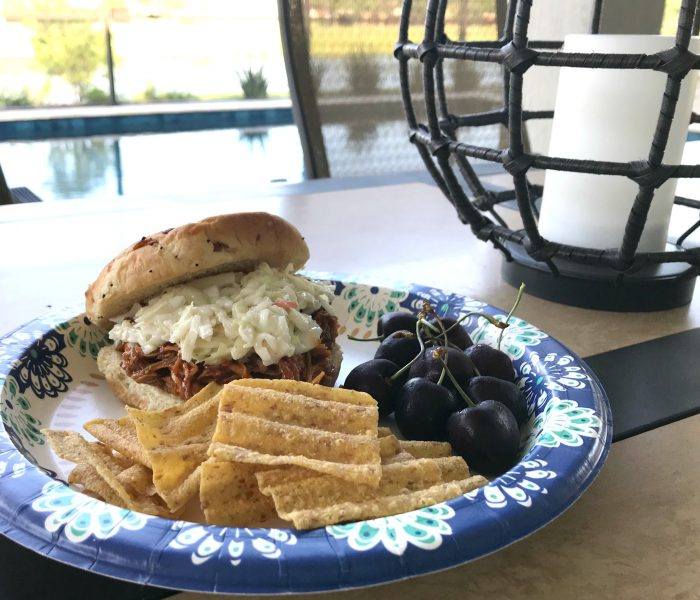 BBQ Pulled Chicken & Coleslaw